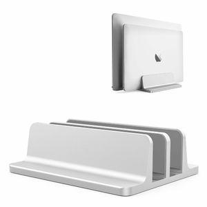 Vertical Laptop Stand 2 em 1 Design Espessura Titular Poupança Ajustável Doca Do Espaço de Desktop Para Todos Os MacBook / Superfície / Samsung