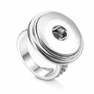 뜨거운 판매 고품질 라인 석 010 패션 DIY 금속 반지 맞는 생강 18mm 스냅인 단추 반지 여성을위한 보석 반지 매력