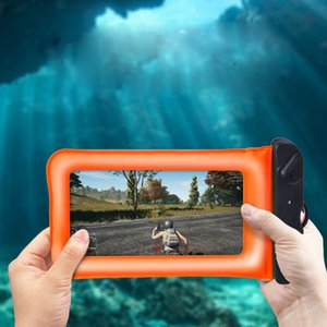 Evrensel telefon Su Geçirmez Kılıfı Kuru Çanta Için Yüzen Hava Yastığı çantası Dokunmatik Ekran iphone X huawei 6.1 inç Telefon Kılıfı Için Yüzme Dalış