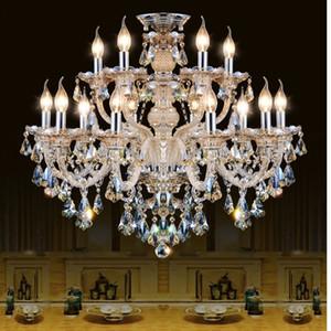 Modern Crystal Chandelier Living room lustres de cristal Decoración Tiffany Colgantes y arañas Iluminación para el hogar Lámpara de interior