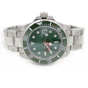Novo Mens watch Movimento Automático Mens Aço Inoxidável Dial Verde Safira Cerâmica Bezel fecho de aço relógio de pulso de mergulho Homens relógios