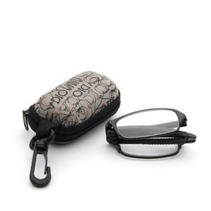Ultra Hafif Asferik reçine Katlanmış Okuma Gözlükleri Erkek Kadın Moda Unisex Gözlük Katlama Kutulu Okuma Gözlükleri Occhiali da lettura