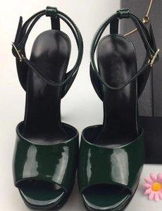 2017 neue Mode-Produkte Dame Leder Sandalen Neue europäische klassische Luxus-Stil Damen Leder Sandalen, Leder, Leder und Band-Dekor