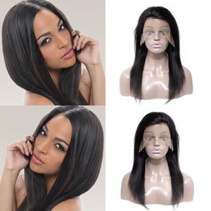 Brazilian Virgin Hair Straight Unprocessed Human Hair Lace Front Wigs For Black Woman 130 Density Swiss Lace Bulk Remy Human Hair Wigs