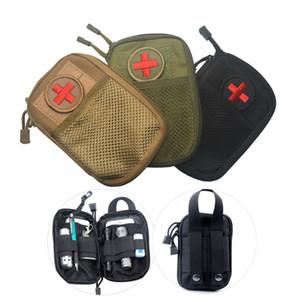 EMT Supervivencia Impermeable Sistema de Molle de Cintura de Nylon Táctico Impermeable Viaje Médico Militar Kit de Primeros Auxilios Sling Pouch Durable LF044