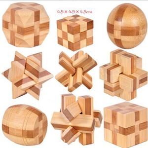 Clássico 3D IQ Cérebro Teaser De Madeira Interlocking 3D Puzzles IQ Cérebro Teaser De Madeira Interlocking Game Toy Para Crianças Dos Miúdos