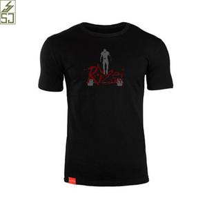EEHCM 2017 yeni moda erkekler t gömlek pamuk elastik nefes t-shirt erkekler beyaz / Siyah / kırmızı ince baskı kısa kollu tişörtleri erkek