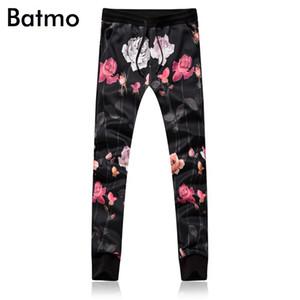 Batmo 2018 nouvelle arrivée de haute qualité style chinois imprimé pantalon taille élastique hommes, pantalon décontracté pour hommes plus la taille m-5xl 8105b
