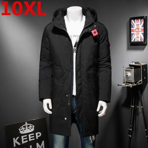 10XL 9XL 8XL 고품질 겨울 남자의 긴 코트 절묘한 팔 포켓 남자 단단한 Parka 온난 한 팔목 디자인 통기성 직물 자 켓