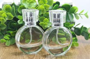 Toptan İnanılmaz Cam Doldurulabilir şişeler Gümüş Püskürtme ve Temizle Cap ile Parfüm Pompa şişeler boşaltın 25ml