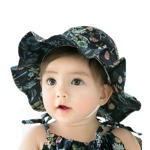 Kind Bucket Hat Blumen-Druck Unisex Thin Fisherman Cap Außen MZ6074 Frühlings-Strand-Hut-Jungen-Mädchen-Kind-Sommer-Kind-Kappe