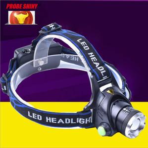 Nueva llegada CREE XML T6 Focus LED Faros 1600 lumen Linterna Linterna Antorcha Deportes al aire libre + 2 * 18650 Batería + Cargador Luz de senderismo