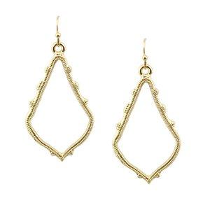ZWPON 2018 Gold Filled Chandelier Earrings Alloy Cutout Fashion Hollow Teardrop Earrings for Women Statement