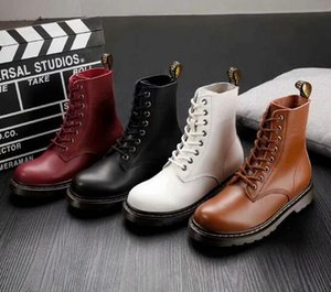 New Fashion couple casual boot brand design solid color men and women Lace-Up Martin boots Women'ssnow boots size 36-44