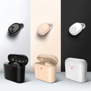Fone de ouvido Sem Fio Bluetooth Invisível Mini BL1 Único Fone de Ouvido com caixa de carregamento 700mAh Auriculares Fone De Ouvido Portátil Para telefone smartphone