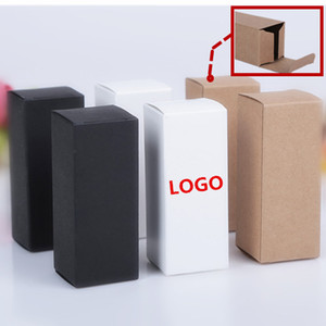 10sizes White browm black paper Box Packing Custom Gift Boxes Candy Cake Soap Cookie Cupcake Display packaging Box