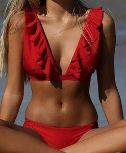 Sexy Bikini Swimsuit Swimwear Women Push Up Bikinis Set Solid Swimming Bathing Suit Beachwear Summer Beach Suit