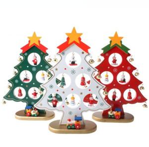 NOUVEAU Design Noël Ornement d'arbre de Noël en bois Hanging cadeau ornement pour enfants Accueil Noël Décoration de table