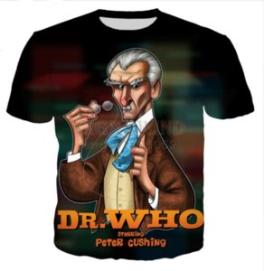 All'ingrosso-Newest Fashion Mens / Womens Summer Style serie popolare Doctor Who Funny 3D Print T-shirt casual DXR00230