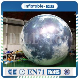 حار بيع إضاءة LED 3M نفخ البالون القمر للديكور تخصيص نفخ نموذج القمر لعبة القمر للمعرض