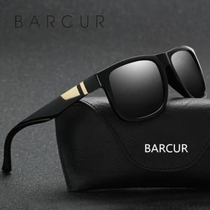 BARCUR Mattschwarz Kunststoff breiten Herren Sonnenbrillen lasses 2017 Männer Brillen Zubehör oculos