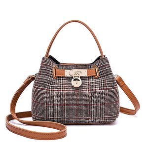 Fashion Lock Panelled Wool Material Women Shoulder Bag Small Casual Women Handle Bag Soft Composite Bag Antigona
