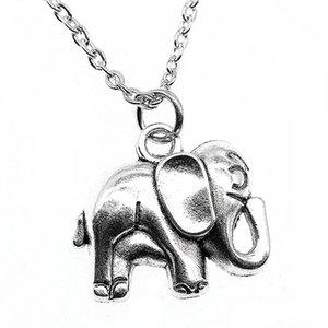 WYSIWYG 5 Pieces Metal Chain Necklaces Pendants Women Necklace Jewelry Elephant 21x20mm N2-B13592