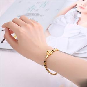 Il braccialetto intrecciato dell'acciaio inossidabile dei monili di stile europeo ed americano collega il braccialetto delle coppie di personalità delle signore artigianato all'ingrosso della catena della nave