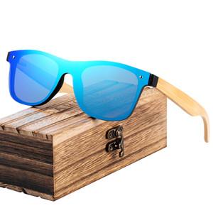 BARCUR 2018 Fashion Holz Sonnenbrille Männer Bambus Tempel Sonnenbrillen Frauen Holz Glas masculino