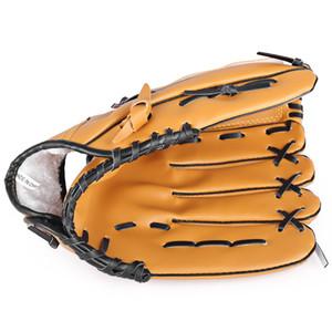 Открытый спорт коричневый практика левой рукой бейсбольная перчатка софтбол оборудование с гибкого действия каблуки наверняка ловить