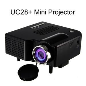 UC28 UC28 + 휴대용 3D LED 프로젝터 시네마 극장의 USB / SD / AV HDMI VGA 입력 미니 멀티미디어 엔터테인먼트 포켓 비머 블랙 / 화이트