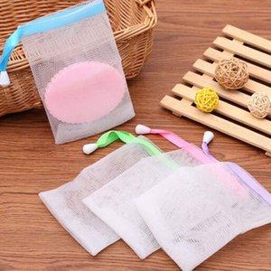 10x15 cm Soap Blister Nylon Malha De Sabão De Espuma De Néon Fácil Bubble Mesh Bag Acessórios Do Chuveiro Do Banheiro ZA6006