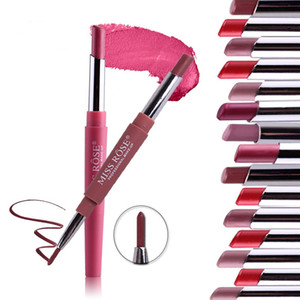 MISS ROSE New Matte Rossetto Matite Double-end Lip Liner Lip Makeup Impermeabile Sexy Colore nudo Labbra Batom