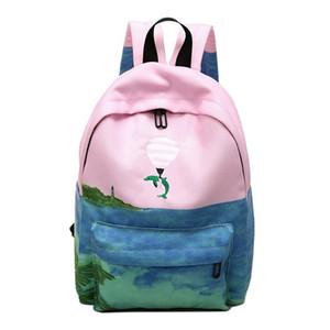 Ulzzang новая мода девушки симпатичные kawaii рюкзак студенты bookabgs вышивать женские дорожные сумки опрятный стиль
