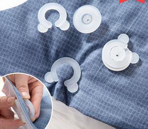 Cama edredón edredón cubierta Clips 4 unids / set sujetadores dormitorio ropa de cama edredones de fijación titular de pinza de plástico DHL envío gratis SN1670