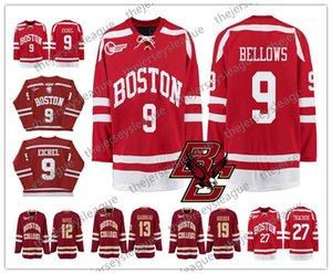 NCAA # 9 Айкел 13 Джонни Гудро 44 Орпик Хорошее качество прошитой Красный Белый Желтый Hockey трикотажных изделий