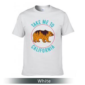 T-shirt impressa interessante, leve-me a Califórnia imprimiu o t-shirt, em volta da camisa de algodão do pescoço.