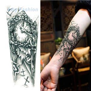 Neue Wasserdichte Blume Tattoo 3D Aufkleber Mechanische Männliche Frauen Körperbemalung Temporäre Körper Rocker Tattoo