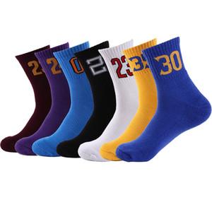 Erkekler Koşu Çorap Spor Çorap Koşu Moda Basketbol Numarası Nefes Ayak Bileği Pamuk Bisiklet Sox Yürüyüş Sıkıştırma Çorap Erkekler