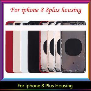 iphone 8 artı Konut, ücretsiz kargo için iphone 8 8G 8 Artı Geri konut Orta Çerçeve Şasi Tam Konut Montaj Batarya kapağı için