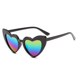 New Ins crianças Óculos de sol Coração Moda Shaped Adumbral bonito do quadro do Designer Eyewear Bebés Meninas Sunglasses Beach Sun Glasses Kids05