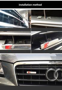 S 라인 Sline 프론트 그릴 엠블럼 배지 스티커 크롬 플라스틱 ABS - 전면은 아우디 S3 S4 S5 S6 S8 A1 A3 A4 A5 A6 A7 마운트 그릴