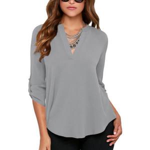 Frauen chiffon bluse shirts ven nein falten locker lässig plus größe s- 5xl europäische sommer shirts halbe hülse mode tops