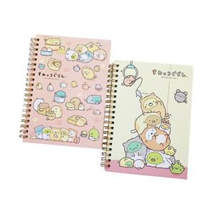 1 Pcs lot Lovely Spiral Coil Notebook Students Rilakkuma & Sumikkogurashi Diary Journal Note Pad Book Memo