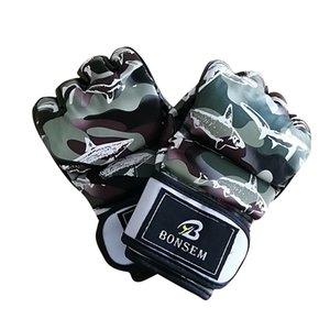 1 par Veio Padrão Moda Luvas De Boxe Para Mulheres Dos Homens Meia Luvas de Dedo Luvas de Treinamento Usar Luvas de Ginástica Novo Design 26bl ZZ