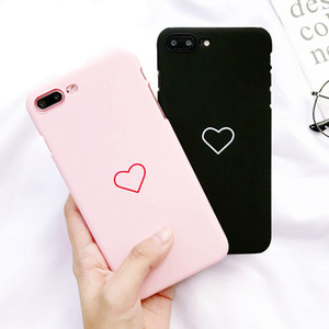 Love Heart Phone Case per iphone 5 5S 6 6S 7 8 Plus X Couples Cover posteriore Matte Hard PC