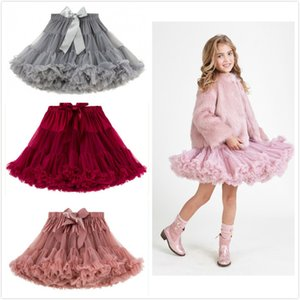 New INS Girls Pretty Yarn Polka TUTU Skirt Princess Party Skirt Puff Skirt Baby Infant Pettiskirt 13 colors Toddler Skirts