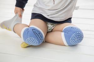 5 couleurs Tout-petits genouillères éponge bébé 11x8cm nourrissons kneelet anti-glissement rampants accessoires de protection safty à tricoter genouillères