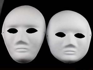2017 neue diy handbemalte Zellstoffputz Covered Paper Mache Blank Maske Weibliche Männliche Maske mit Bungee kabel 30 teile / los
