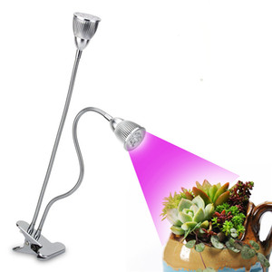 CF Grow Dual Head LED Grow Light Clip Base 10W Plant Growing Lamp for Office Home Indoor Garden Greenhouse Plants Herbs Grow